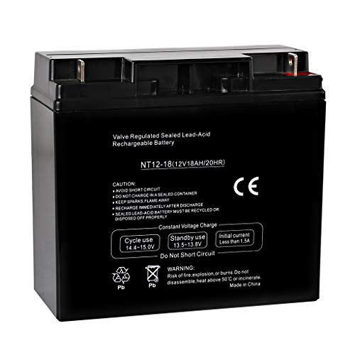 - Hykolity 12V 18AH Battery Sealed Lead Acid Rechargeable SLA AGM Batteries Replaces UB12180 FM12180 6fm18