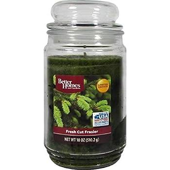 Natural and Crisp Better Homes Gardens 18oz Jar Candle Fresh Cut Frasier,Nice