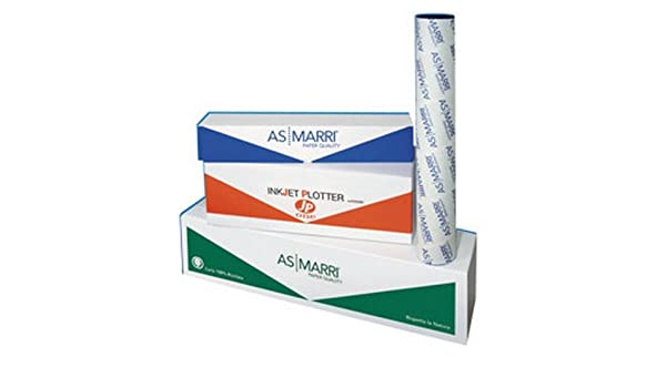 AS MARRI papel INKJET Plotter 420 Mmx50Mt 90 gr opaca PBJ. 90 Marri: Amazon.es: Electrónica