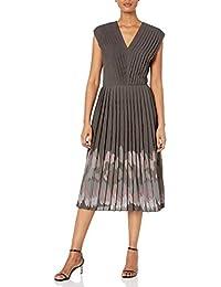 Women's The Impressionist Pleater V-Neck Midi Dress