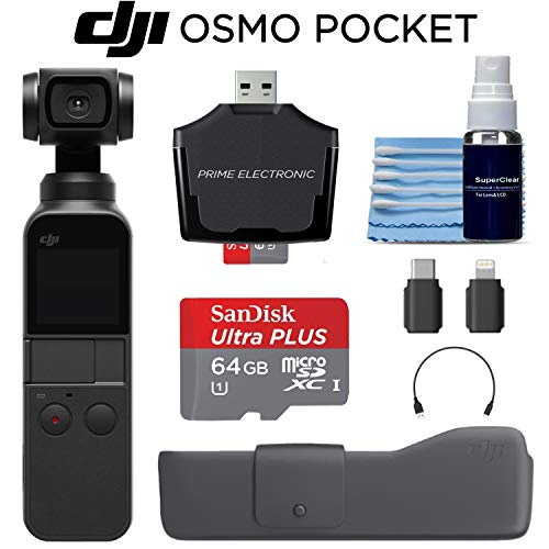 Osmo Pocket Handheld 3 Axis 4k Gimbal Stabilizer with Integrated...