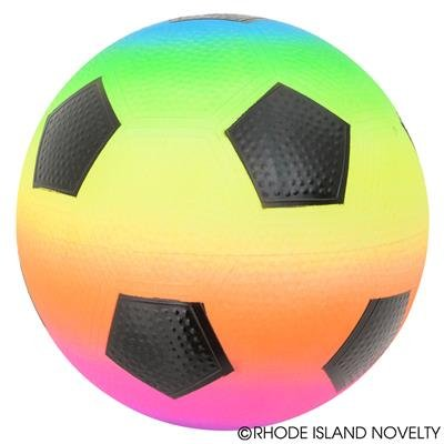 1PC, 9'' RAINBOW SOCCER PLAYGROUND BALL by RIN001