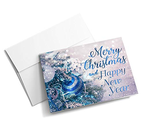 The Christmas Sapphire - Christmas Cards | 25 Standard Greeting Cards with Your Custom Message and Envelopes | Printed in the ()