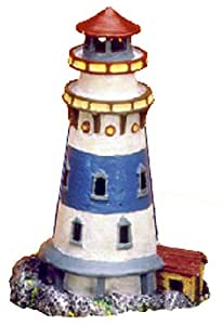 Exotic Environments Mini Lighthouse Aquarium Ornament, 3-1/2-Inch by 3-1/2-Inch by 5-1/2-Inch