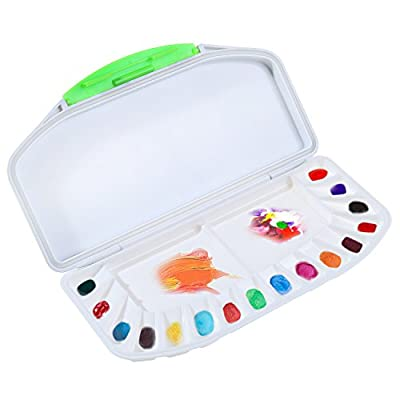 Airtight Watercolor Palette Paint Tray Palet Traveling Folding Storage Palette for Watercolor Pigment Acrylic
