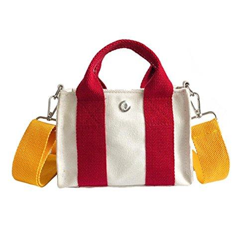 JESFFER Women Patchwork Flap Canvas Handbag Bag Inclined Shoulder Bag