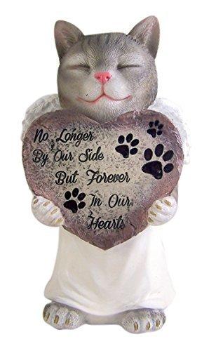 Resin Pet Cat With Angel Wings Memorial Garden Statue 10.75 Inch Review