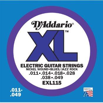 D Addario EXL115 XL 11 – 49 cuerdas para guitarra eléctrica TWIN SET w/