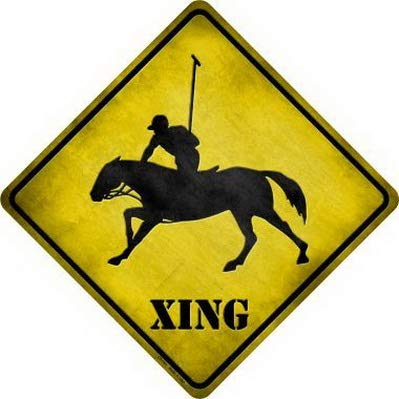 Harvesthouse Polo Xing Metal Crossing Sign 8x8 Inches Square ...