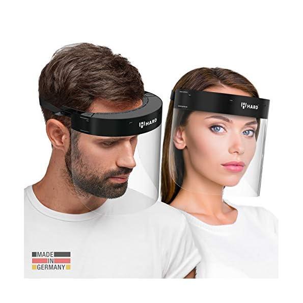 HARD-professionelles-Gesichtsschild-mit-2-Wechsel-Visier-Zertifiziertes-Gesichtsschutz-Gesichtsvisier-anti-beschlag-Face-Shield-Made-in-Germany-Schwarz