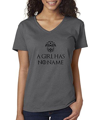 0da16912ac New Way 688 - Women's V-Neck T-Shirt A Girl Has No Name Game Of ...