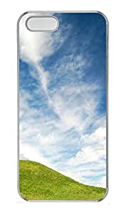 iPhone 5S Case Simple Abstract Landscape PC Custom iPhone 5/5S Case Cover Transparent