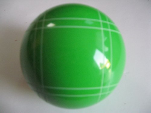 Epco Replacement Bocce Ball with Close Curvey stripes - single light green 110mm