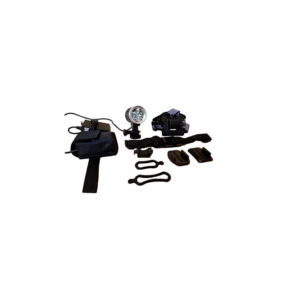 Oxbow Gear Apache 2400 Helmet Light for Mountain Biking & Dirt Biking | GoPro Mount Compatible
