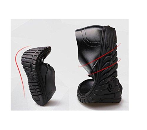 Color Suave Informales De Puntiaguda Black Invierno Hombres Cinta De Verano Redondo Negocios Los Cuero Otoño Zapatos Primavera De Deportes f8aB1qq