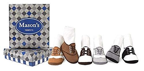 Trumpette Baby Boys' Newborn Coltons Socks, Mason's - Assorted Neutrals, 0-12 Months by Trumpette