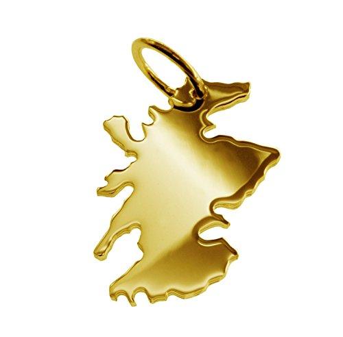 Écosse pendentif en or jaune 585 massif-unisexe
