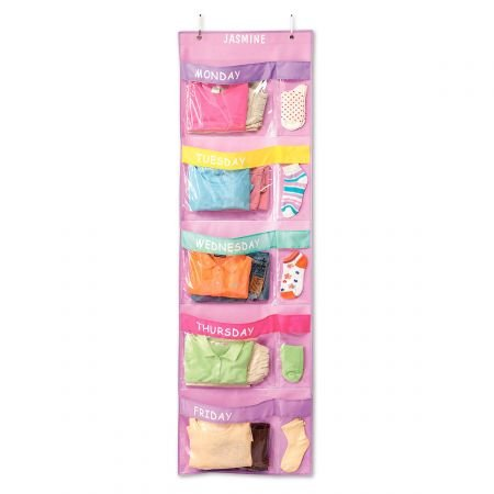 Lillian Vernon Personalized Pastel Colors Days-of-The-Week Hanging Organizer by Lillian Vernon