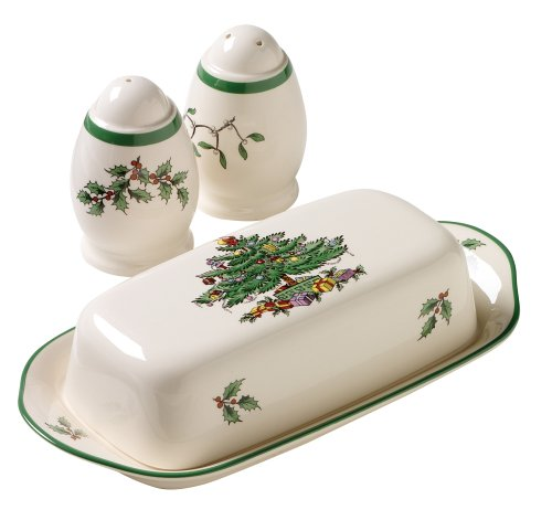 Spode Christmas Tree Dishwasher Safe - Spode Christmas Tree 3-Piece Hostess Set