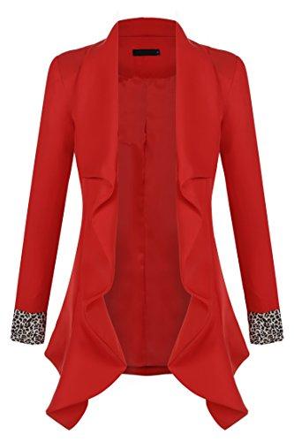 Zeagoo Women Casual Lapel Open Front Draped Blazer Jacket 41JPDSIkgEL
