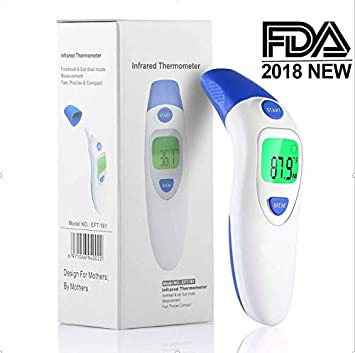 Baby Thermometer, Forehead Ear Thermometer for Fever, Medical Infrared Temporal Termometro with More Accurate