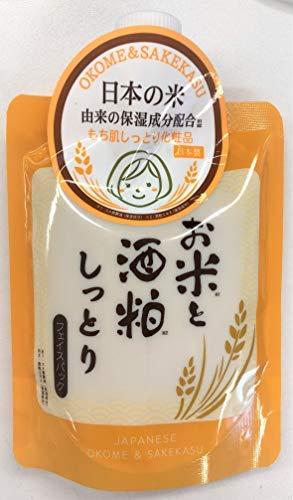 お米と酒粕しっとりフェイスパック × 24個セット B07RQ4G7YC  170G × 24点