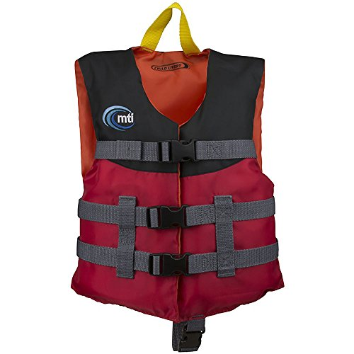 MTI Adventurewear Livery PFD Life Jacket (Red, Child Size/30-50-Pound)