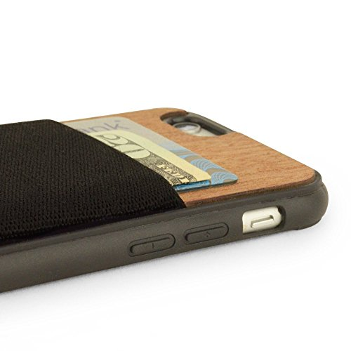 jimmyCASE iPhone 6/6S Ultra Slim Protective Credit Card Wallet Case, Orange and Navy Blue Stripe by jimmyCASE (Image #3)