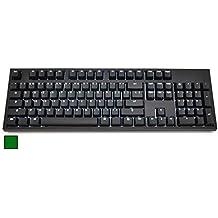 CODE 104-Key Illuminated Mechanical Keyboard with White LED Backlighting - Cherry MX Green