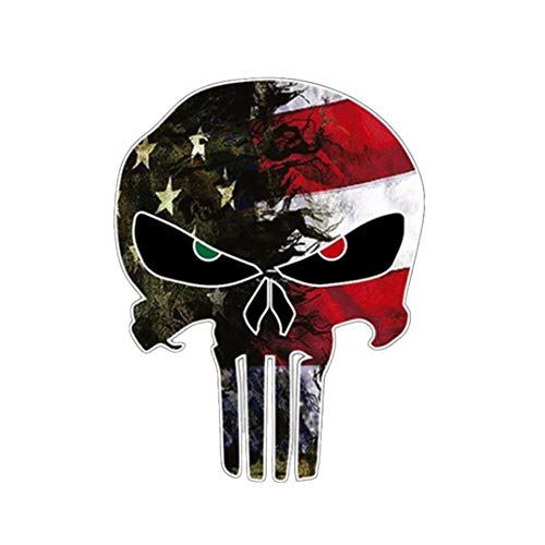 Glumes Skull 3D Sticker, Halloween, Scariest, Removable, Car Side Body Decal, Motorcycle Bicycle Body Sticker, Luggage Decal, Graffiti Patches, Skateboard Stickers, Laptop Stickers, Mural Decor Decal (A)