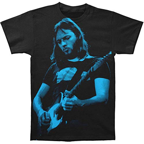 David Gilmour Icon Big Print Subway tee (Small) Black (David Gilmour In Concert 1984 About Face Live)