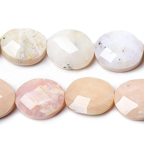 (17x15mm Pink Peruvian Opal Faceted Oval Beads 16 inch 22 pieces)
