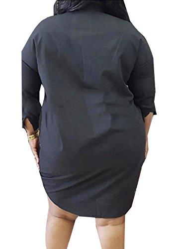 Nero Labbra Vestito Coolred Di shirt Stampata T Floreale Casuale Paillettes Moda donne wzPtB
