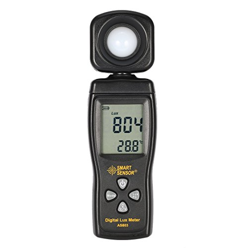 SMART SENSOR AS803 Digital Lux Meter Luminance Tester Light Meter 1-200000 Lux Tools Photometer Spectrometer ()