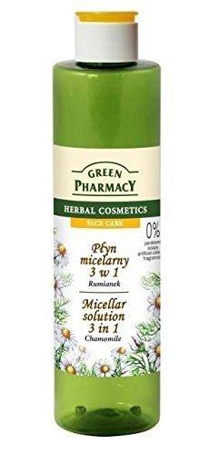 Farmacia Verde manzanilla – 3 en 1 Solución Micelar Desmaquillante, tonos, hidrata, suaviza