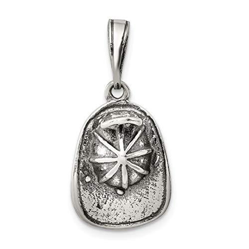 925 Sterling Silver Firemans Helmet Pendant Charm Necklace Career Professional Firefighter Man Fine Jewelry Gift For Dad Mens For Him -