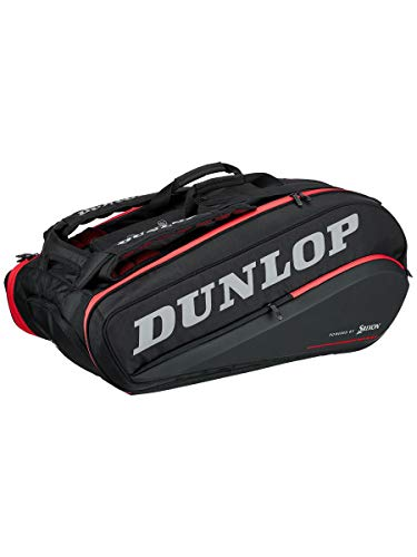 - DUNLOP-CX Performance 15 Pack Tennis Bag Black and Red-(045566908445)