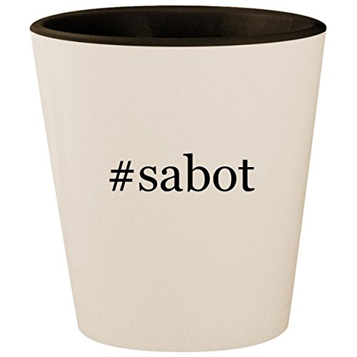 #sabot - Hashtag White Outer & Black Inner Ceramic 1.5oz Shot Glass