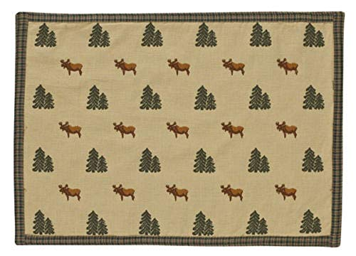 (tkdancingbearsgiftsco Home Kitchen Northern Exposure Moose Cotton Placemat)