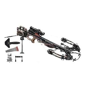 TenPoint C13004-7411 Vapor Crossbow with RangeMaster Pro Scope and (6) Pro V22 Carbon Arrows, Camo / Black