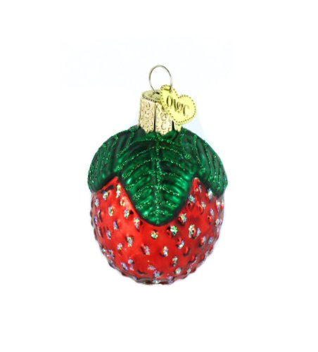 Old World Christmas Glass Blown Ornaments for Christmas Tree Sparkling Strawberry