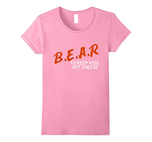 Womens Chicago Football Shirt - B.E.A.R. off the CHEESE Funny DARE Large (Pink Chicago Bears Shirt)