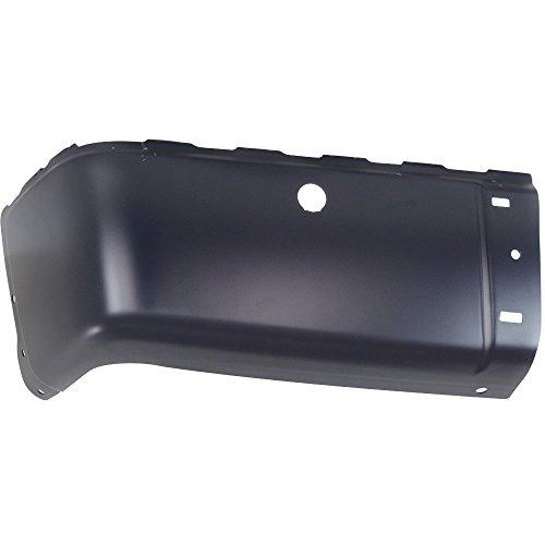 Bumper End for Chevrolet Silverado Sierra 07-14 Rear Black Face Bar W/Sensor Holes Left Side Steel ()