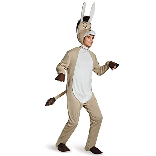 Disguise Men's Shrek Donkey Deluxe Costume, Grey, (Adult Donkey Costumes)