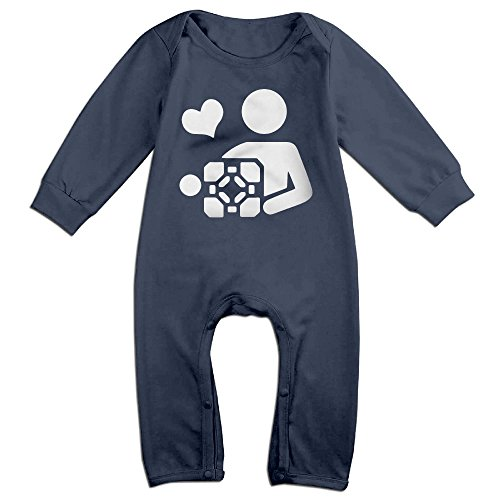 Sons Of Anarchy Costume Baby (PCY Newborn Babys Boy's & Girl's Love Video Game Portal 2 Long Sleeve Jumpsuit Outfits For 6-24 Months Navy Size 18 Months)