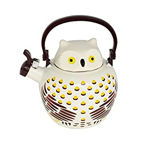 Home-X – Owl Tea Kettle, 2.1 Quart Whistling Tea Kettle for Gas Top or Electric Stoves, The Perfect Addition to Any Kitchen