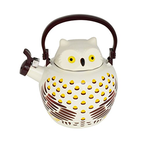 HOME-X Owl Whistling Tea Kettle, Cute Animal Teapot, Kitchen Accessories and Décor]()