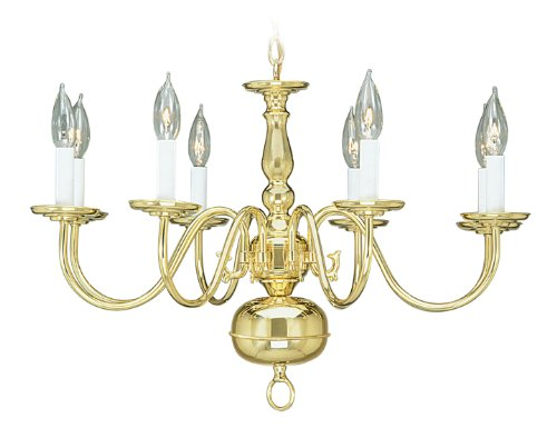 Livex Lighting 5008-02 Chandelier with No Shades, Polished Brass