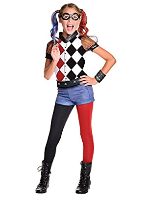 Rubie's Costume Kids DC Superhero Girls Deluxe Harley Quinn Costume