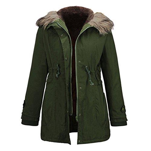 Entzuckend MIOIM Winterparka Damen Mit Fellkapuze Winterjacke Wintermantel Steepjacke  Warm Lang Parka Mantel Jacke Outwear S